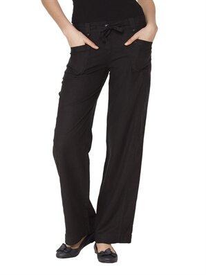 Siyah Normal Bel Bol Pantolon -1Y6104Z8-G99