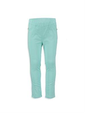Yeşil Normal Bel Dar Pantolon -7Y0132Z4-CT0